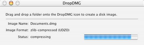 DropDMG 1.0 on Mac OS X 10.1