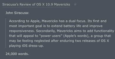 Daring Fireball on Mavericks